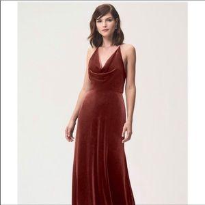 Jenny Yoo Luxe Stretch Velvet Bridesmaid Dress